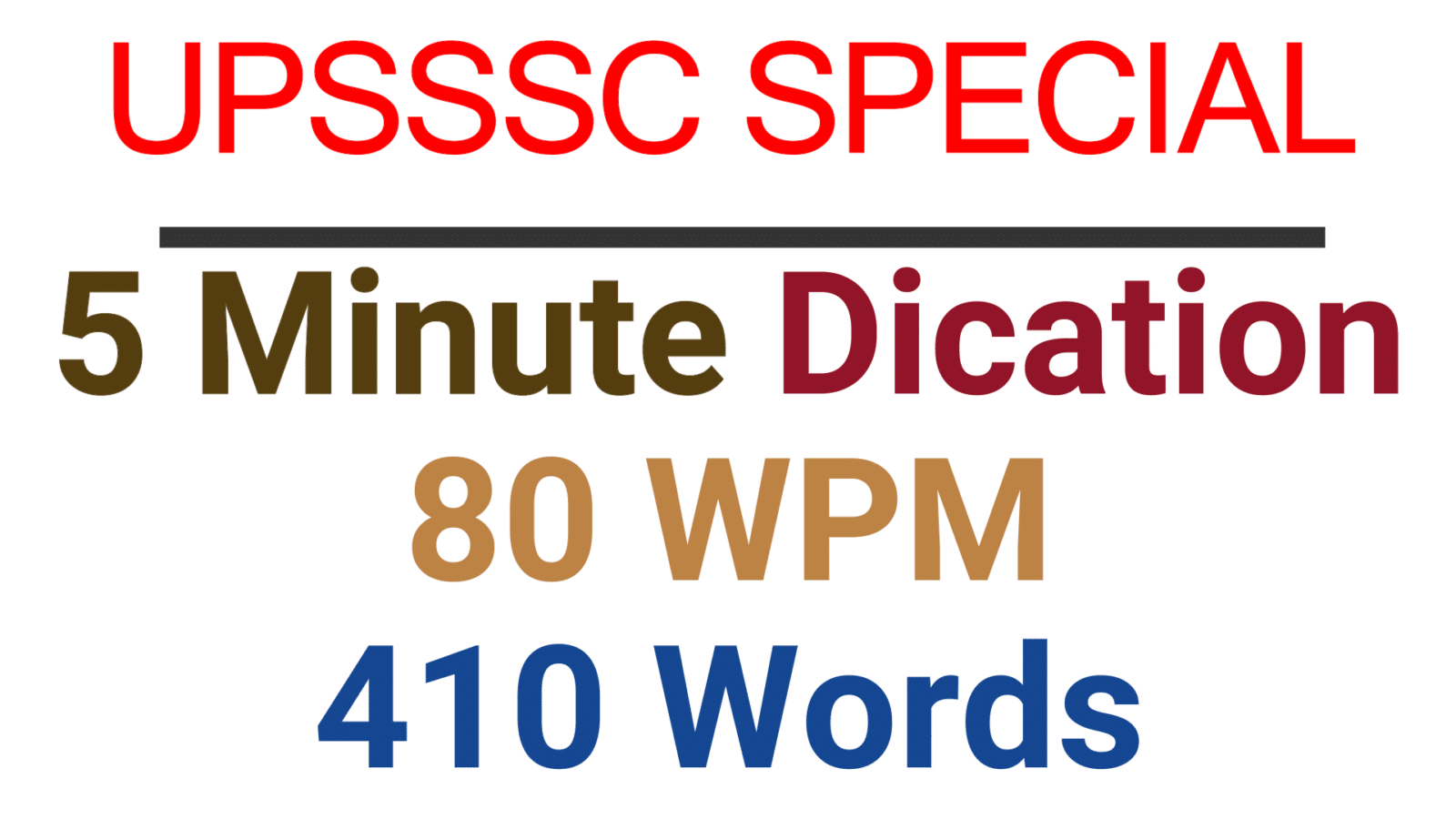 Hindi Shorthand Dictation 80 WPM 400 words